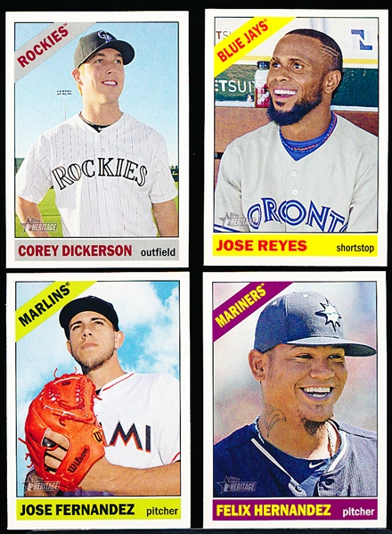 2015 Topps Heritage Bsbl.- 8 Diff. SP's