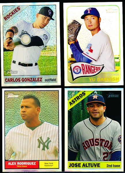 "Clean-Up Lot of 4 Diff. Topps Heritage Bsbl. ""Chrome Refractors"""