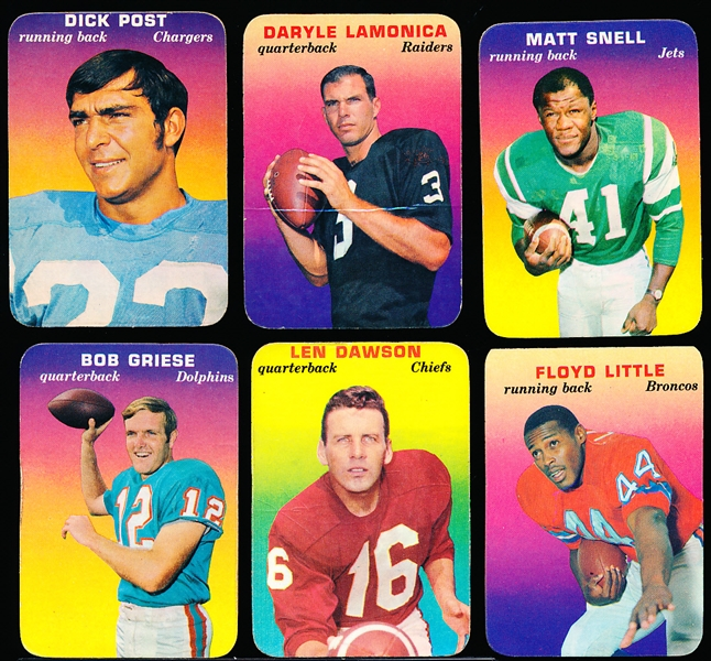1970 Topps Super Glossy Ftbl.- 12 Diff.