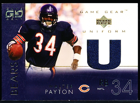 "2001 UD Game Gear Ftbl. ""Game Gear Uniform"" #WP-U Walter Payton, Bears"