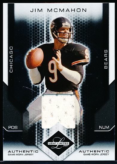 "2007 Leaf Limited Ftbl. ""Jersey"" #142 Jim McMahon, Bears"