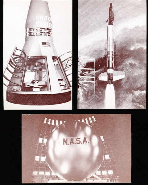 "1970's Reprint/Re-Issue Exhibit ""NASA""- 22/32 Cards"