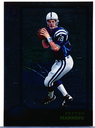 "1998 Bowman Ftbl.- ""Interstate"" Parallel- #1 Peyton Manning RC, Colts"