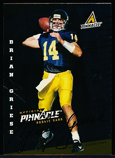 "1998 Score Ftbl.- ""Rookie Autographs""- Brian Griese, Michigan"