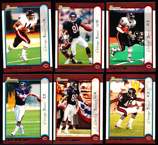 "1999 Bowman Ftbl. ""Gold""- 6 Diff. Chicago Bears"