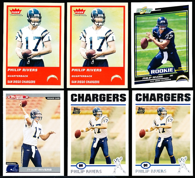 2004 Philip Rivers Rookies- 6 Asst.