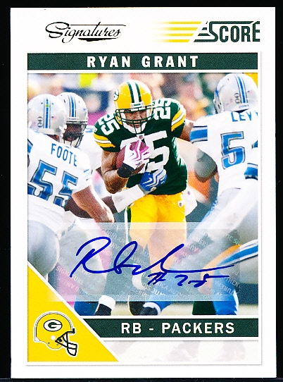 "2011 Score Ftbl.- ""Signatures""- #111 Ryan Grant, Packers"
