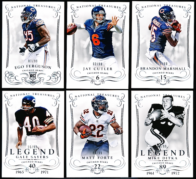 2014 National Treasures Ftbl.- 1 Chicago Bears Team Set? of 6 Cards