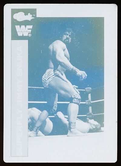 "1991 Classic WWF Wrestling ""Printing Plate""- ""Superfly"" Jimmy Snuka"