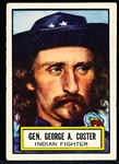 "1952 Topps ""Look 'N See""- #37 Gen. George A. Custer, Indian Fighter"