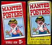 "1967 Topps ""Wanted Posters""- 2 Unopened Wax Packs"