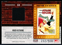 "2009 Panini Donruss Americana ""Movie Poster Memorabilia""- #33 Fred Astaire in ""Swing Time""- #232/500"