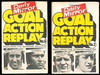 "1972-73 Daily Mirror (Product of England) ""Goal Action Replay"" Flip Booklets- 2 Diff."