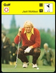 "1977 Sportscaster Golf Card- Jack Nicklaus- tougher ""printed in Japan"" English version."