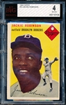 1954 Topps Baseball #10 Jackie Robinson- BVG (Beckett Vintage Graded) VG to Ex 4