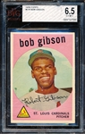 1959 Topps Baseball #514 Bob Gibson RC- BVG (Beckett Vintage Graded)  Ex to Mint+ 6.5