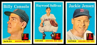1958 Topps Baseball- Boston Red Sox- 10 Diff