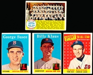 1958 Topps Baseball Red Sox- 9 Diff