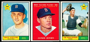 1961 Topps Bb- 18 Diff Boston Red Sox