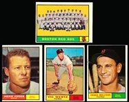 1961 Topps Bb- 11 Diff Boston Red Sox