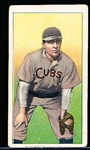 1909-11 T206 Bb- Tinker, Chicago Cubs- Hands on Knees Version- Piedmont 150 back.