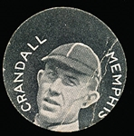 1912 E254 Colgan Chips- Crandall, Memphis- Stars of the Diamond back (clean).