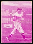 1934-36 Batter Up Bb- #77 Heinie Manush, Senators- Purple Color