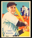 1934-36 Diamond Stars Bb- #65 Zeke Bonura, White Sox
