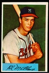 1954 Bowman Baseball- #64 Eddie Mathews, Braves