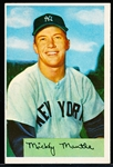 1954 Bowman Baseball- #65 Mickey Mantle, Yankees