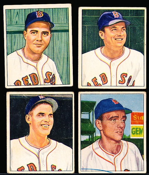 1950 Bowman Bb- 4 Diff Boston Red Sox