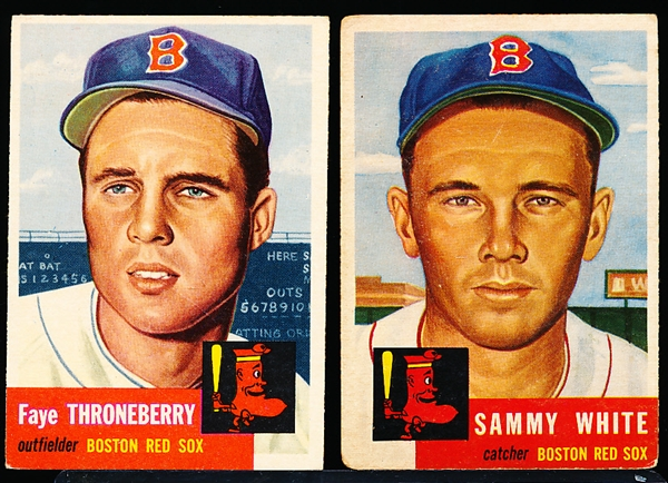 1953 Topps Bb- 2 Diff Boston Red Sox