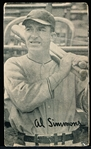1936 Goudey Wide Pen Premium- Type 3 – (Full Bleed)- Al Simmons