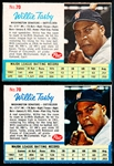 1962 Post Cereal Bb- #70 Willie Tasby, Washington- 2 Diff Variation