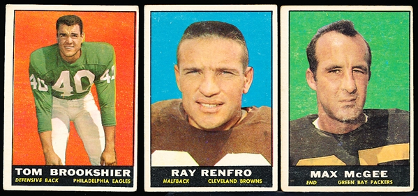 1961 Topps Fb- 35 Cards