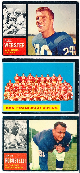 1962 Topps Fb- 17 Diff