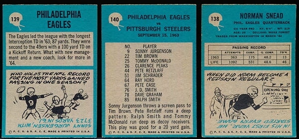 1964 Philly Fb- 16 Cards