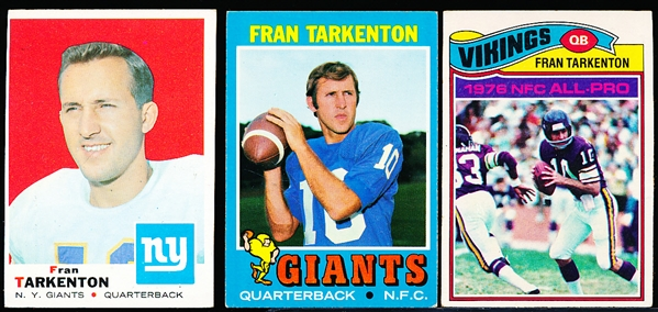 Fran Tarkenton Lot- 9 Cards