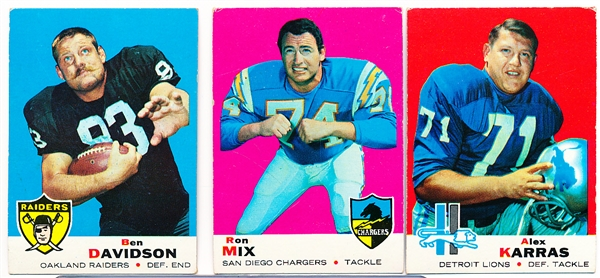 1969 Topps Football- 30 Diff