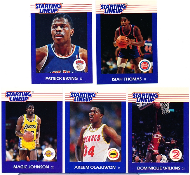 1988-89 Kenner SLU Basketball Cards- 5 Diff. Premier Issue