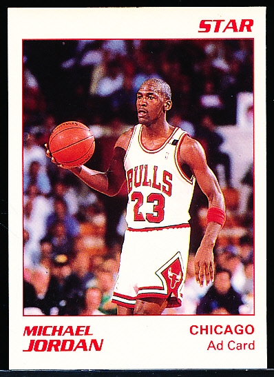 "1990 Star Co. Michael Jordan White ""Ad Card"""