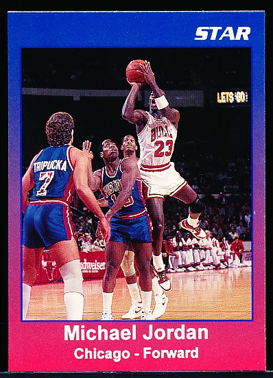"199? Star Co. Michael Jordan Blue Border Fading into Red Bordered ""Prototype"" Card/ White Print"