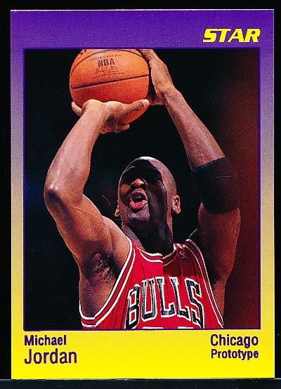 "199? Star Co. Michael Jordan Purple Border Fading into Yellow Bordered ""Prototype"" Card"