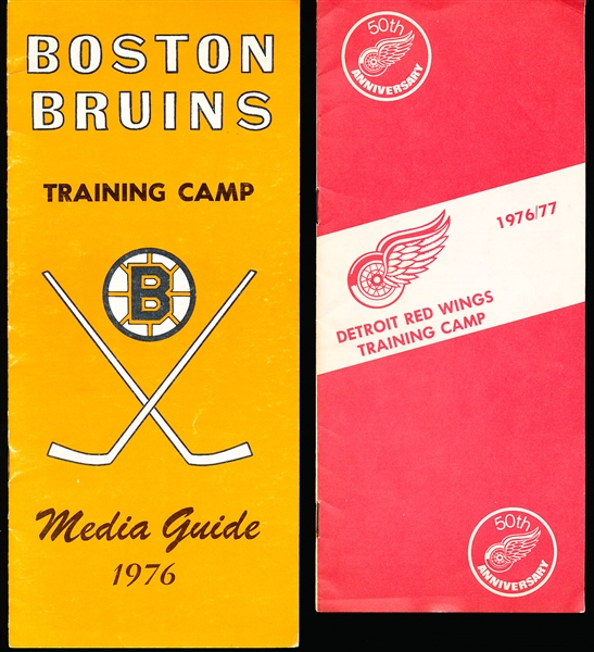 1976-77 NHL Training Camp Media Guides- 2 Diff.