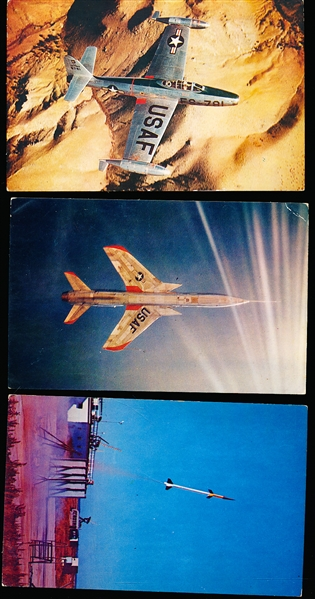 1950's Republic Aircraft Promotional Non-Sports Color Postcards- 6 Diff.
