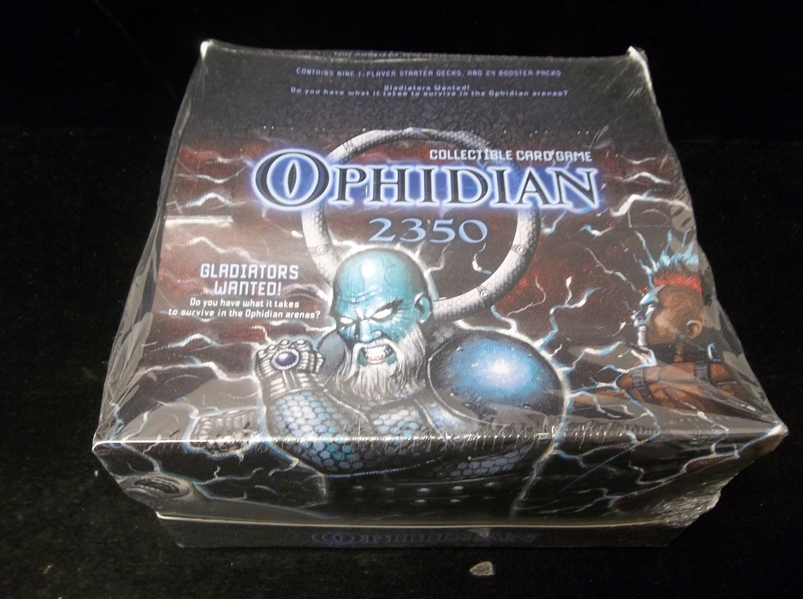 "2003 Fleer ""Ophidian 2350"" Unopened Box with Nine 1-Player Starter Decks & 24 Booster Packs"