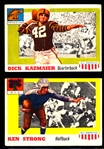 1955 Topps Fb All American- 2 Diff