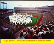 "1966 L.A. Dodgers Team Issue 10"" x 8"" Dodger Stadium Team Photo with ""Home of the L.A. Dodgers 1966 N.L. Champions"""