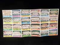 1976 Topps Baseball Team Checklist Send-Away Fold-Out Uncut Sheet Set of 24