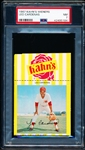 1967 Kahn's Baseball- Leo Cardenas, Reds- PSA NM 7 – With Top Ad Tab